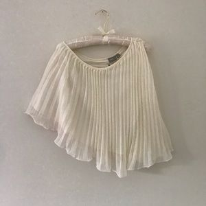 NWT ASOS One Shoulder Pleated Top - Sz 4